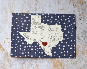 Texas Greeting Card, Deep In The Heart Of Texas Greeting Card
