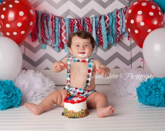 Robot 1st birthday cake smash, blue and red 1st birthday outfit, robot cake smash, baby boy first birthday bow tie, diaper cover set