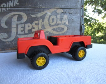 Vintage Fisher Price Husky Helper Tow Truck Orange