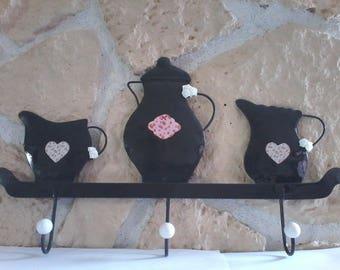 Door touch Slate gray metal jugs motif