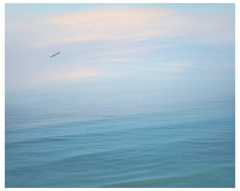 Ocean blue wall art Abstract print ocean photography Blue art bedroom 24x30 print, Blue ocean Large wall art Blue sea landscape print