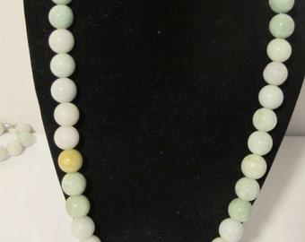 ON SALE Multi Colored Jade Necklace Grade A