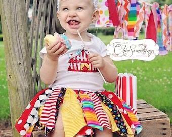 Circus birthday tutu, circus shirt, clown tutu, circus tent shirt, circus birthday outfit, circus tutus, circus tent tutu, tent shirt 01.18