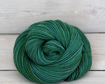 Aspen Sport - Hand Dyed Superwash Merino Wool Sport Yarn - Colorway: Viridian