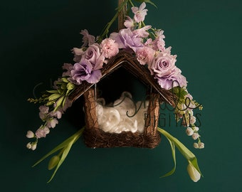 Bird Nest Fresh Flower Newborn Digitals