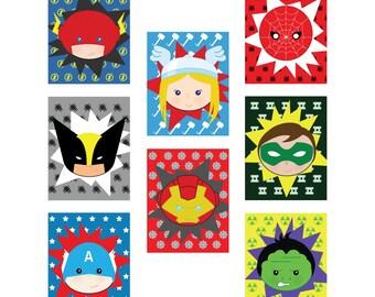 50% OFF Superhero Nursery, Superhero wall prints, Superhero clipart, Marvel wall art, Teen boy room decor, Superhero wall decor, Marvel baby
