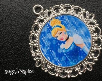 Princess Cinderella Pendant - Princess Cinderella Necklace - Cinderella Necklace - Cinderella jewelry