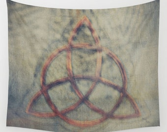 Trinity Code Wall Tapestry, Celtic Symbol Tapestry, Magic Home Decor, Triangle Tapestry, Wall Tapestry, Enlightenment, Dorm,Sign,Ancient