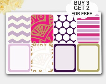 Geometric Polka Dot Full Boxes Planner Stickers for Happy Planner