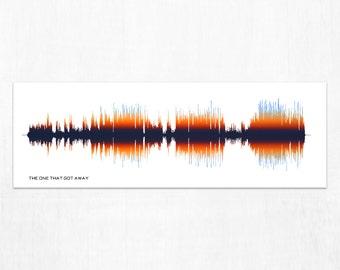 The One That Got Away - Song Lyric Art Print, Framed Art, Canvas Design