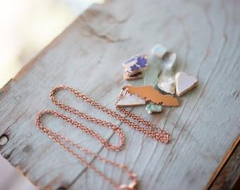 Handmade Copper Vancouver Island Necklace, Vanisle, BC