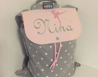 Backpack child nursery with personalized name for the school size 4/5 years.