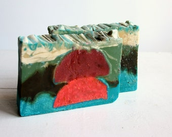 Fresh Strawberry -Pomegranate Soap,Cocoa,Coconut Butter Moisturising against wrinkles Soap