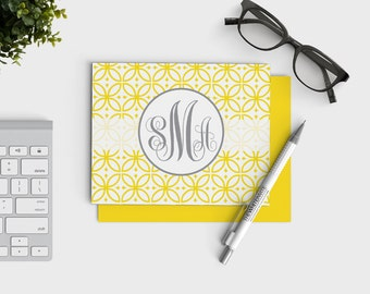 Personalized Stationery - Monogrammed Notecards - Personal Stationary - Colored Envelopes