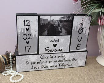 Once In A While In The Middle Of An Ordinary Life Love Gives Us A Fairytale, Unique Wedding Gift, Valentine's Day Gift, Bridal Shower Gift