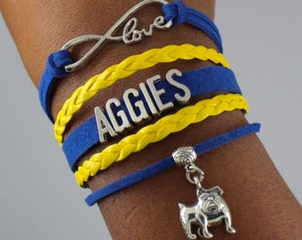 North Carolina A&T State University Infinity Bracelet