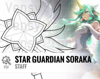 Star Guardian Soraka - In-Game Model & Splash Art - Blueprint Cosplay League of Legends DIY