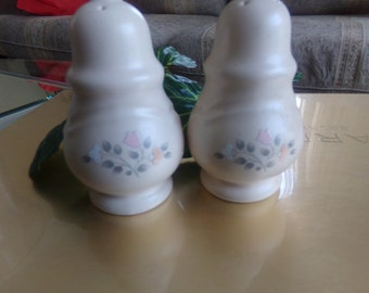 """Pfaltzgraff  """"Remembrance Pattern""""  Salt and Pepper Shakers (1980s)   Discontinued"""