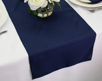 Navy Blue Table Runner Polyester | Wedding Table Runners