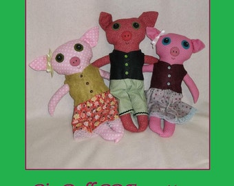 Pig Doll Pattern  - PDF epattern Tutorial