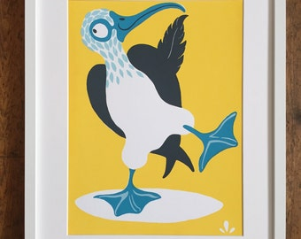 Mr Booby - Bright Yellow: Limited Edition Screenprint