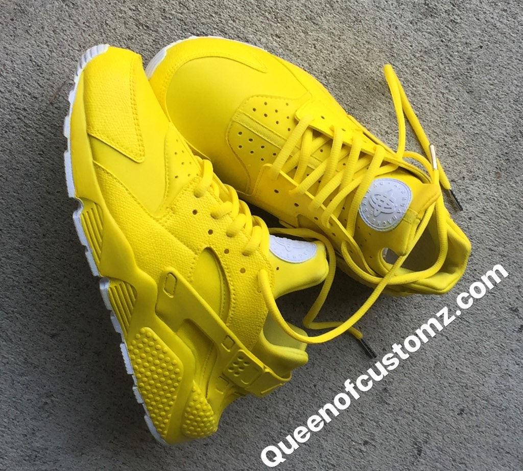 Sunshine Yellow Nike huaraches custom