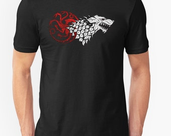 The White Wolf || King of the North Shirt Game of Thrones Unisex T-Shirt/ Super Soft 35 Colors / Dire Wolf/ Stark / Jon Snow / Jonerys/ Gift