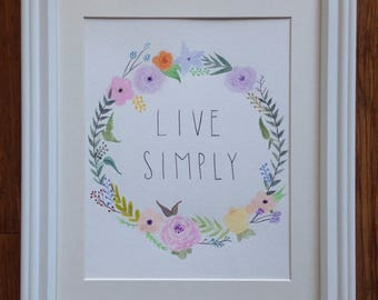 LIVE SIMPLY Framed Art