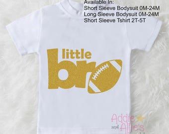 Football Baby Shirt, Baby Boy Bodysuit, Football Boy Bodysuit, Custom Boy Football Shirt, Little Bro Football Shirt, Big Game Gift BY6G