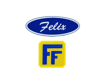 Fix-It Felix, Jr. Patch Set Cosplay Costume Embroidered Iron On Patch Set Iron on Applique