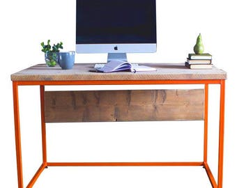 Office Desk - ANY COLOUR-  Handmade, Rustic, Industrial style, wood & metal, reclaimed