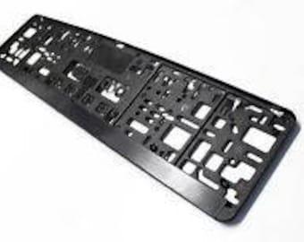 EUROPEAN LICENSE PLATE Frame/Holder/Bracket..Universal Fitment...Easy install.