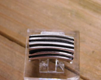 Heavy Sterling Silver Abstract Ring Size 9.5