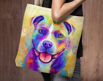 Pit Bull Tote Bag   Pitbull   Staffordshire Terrier   Project Bag   Weekender Bag   Tote Bag Canvas   Shoulder Bag   Gym Bag   Shopping Bag