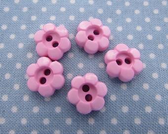 Pink Daisy Flower Buttons