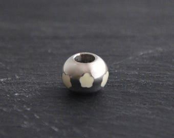 Pearl flowers enamel stainless steel