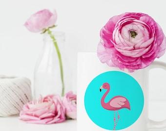 Pink Flamingo Mugs, flamant rose Mug à café, Mug flamant rose, flamant rose, flamant rose