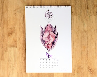 2018 Vagina Art Calendar (No holidays version) - Feminist art, Vulva art