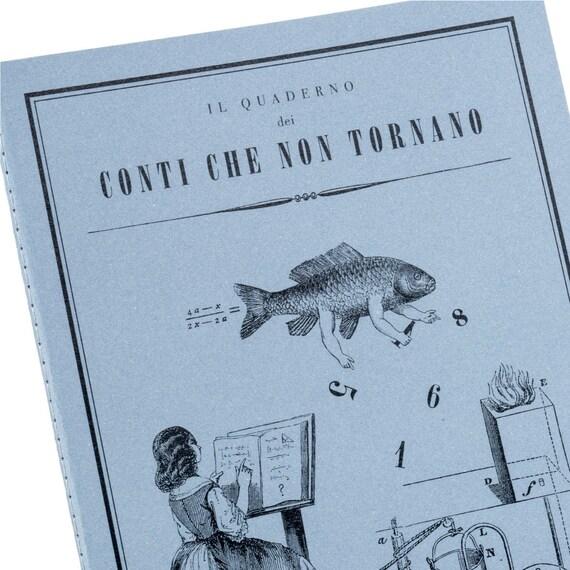 QUADERNO DEI CONTI. Victorian style calculation notebook. Ironic cpa gift. Quaderno Dei Conti Che Non Tornano.