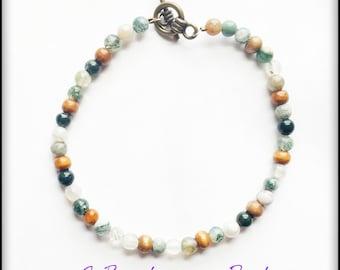 Bracelet, Beaded Bracelet, Glass Beaded Bracelet, Earth Tones
