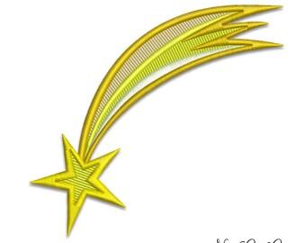Ricamo a macchina cometa - cielo spazio macchina ricamo design cielo stellato - 014