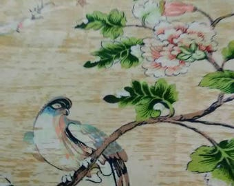 Beautiful Asian wall hanging or table runner.  Beautiful design with birds and blossoms.