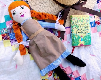 Anne of Green Gables Doll, Anne Shirley Doll, Lucy Maude Montgomery Doll, Story Book Character Dolls