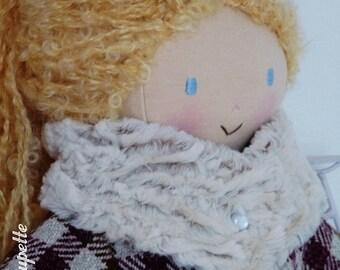 Pink rag doll with 50 cm - cloth doll - blonde doll - rag doll - handmade doll - cloth doll - fabric doll