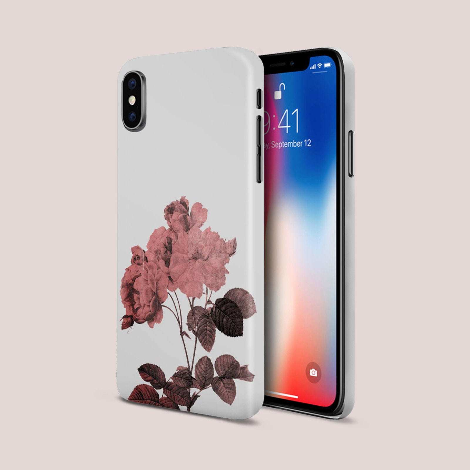 Rose Gold Flower Phone Case Google Pixel II Phone Case Protective Slim Phone Case iPhone X Phone Case Case Escape Phone Case