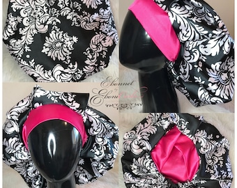 Black Damask Bouffant