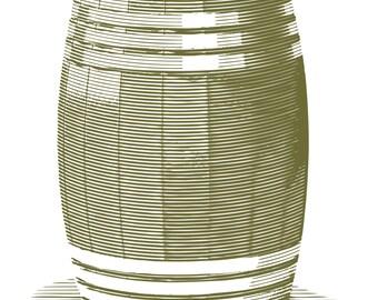 Engraved Wooden Barrel – Digital Download