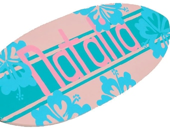 Surfer Girl Surfboard Sign, Personalized Surf Girl Bedroom Decor, Small Decorative Surf Board