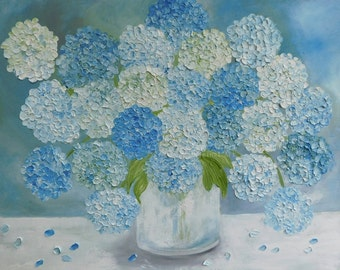 Hydrangea Painting, Original Hydrangea Painting, Custom Hydrangea Painting, Home Decor