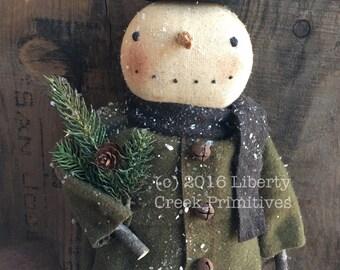 Sherman Primitive Snowman Doll Pattern